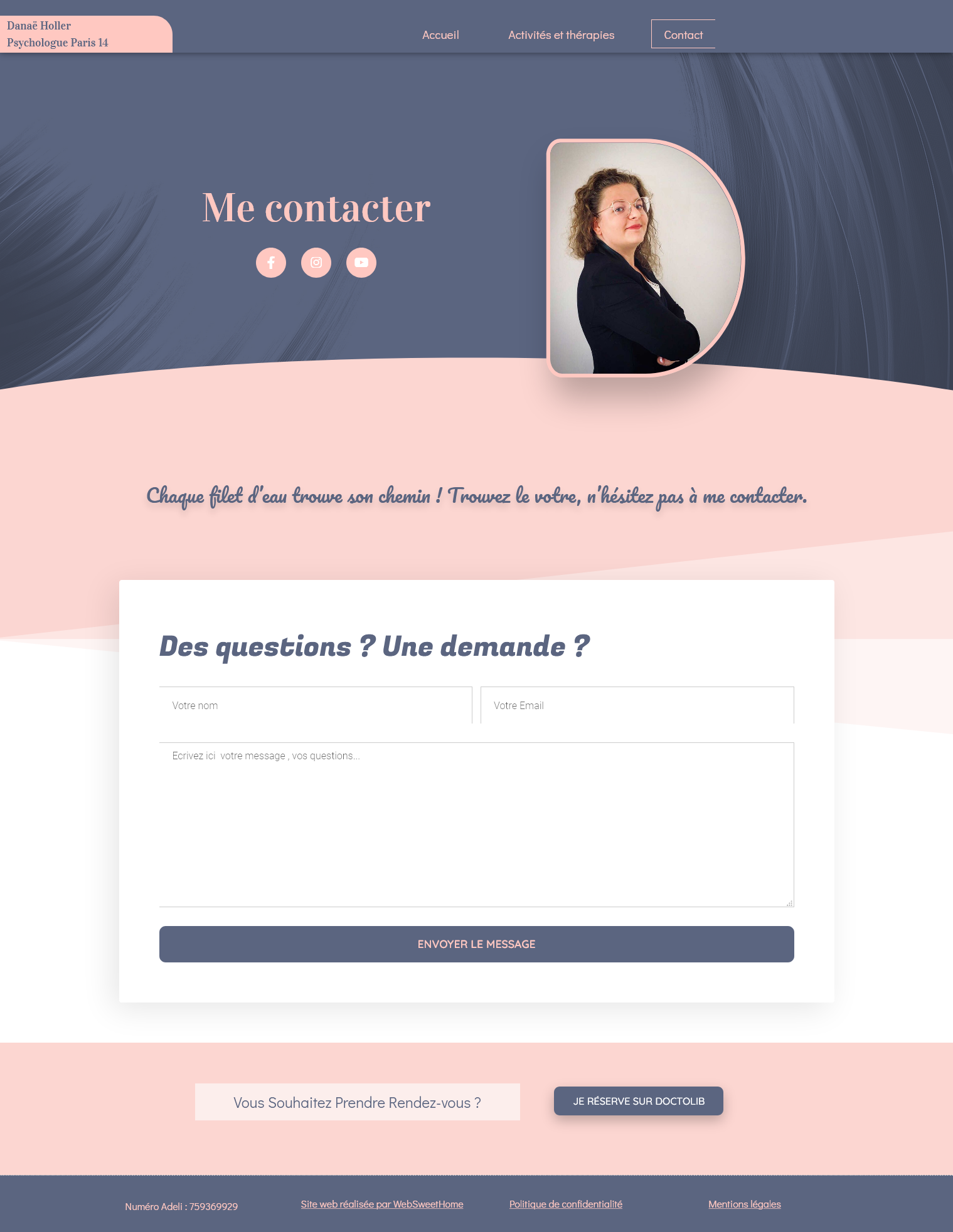 Site internet professionnel pour psychologue - WebSweetHome