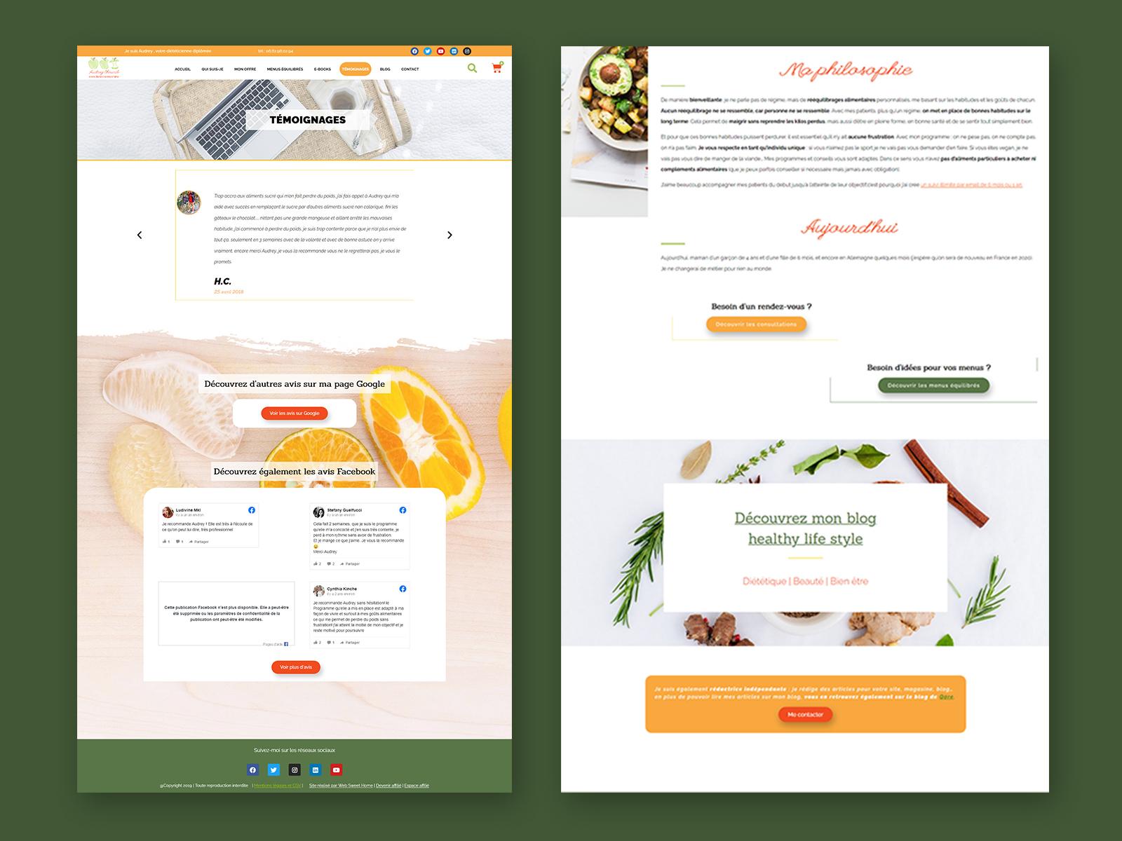 Site web Bien-être - websweethome